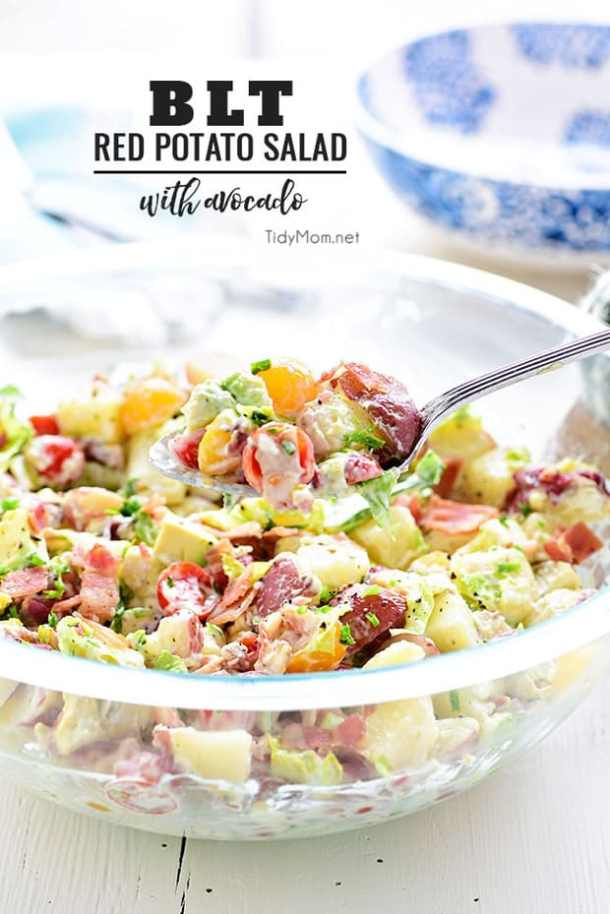 BLT Red Potato Salad -- part of The Best Picnic and Potluck Recipes