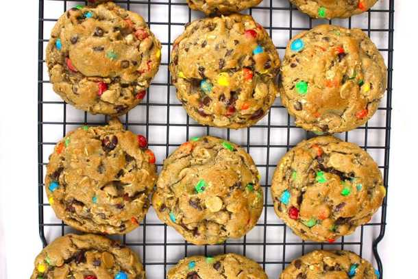 Monster Cookies-- Part of M&M Monster Dessert Recipes that your kids will love!