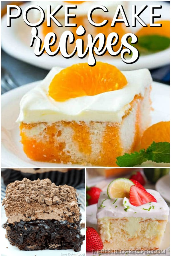 You can't go wrong with the Best Poke Cake Recipes for any and every one of your occasions! With moist, sweet delicious flavors, we know these cakes will have you coming back for more!
