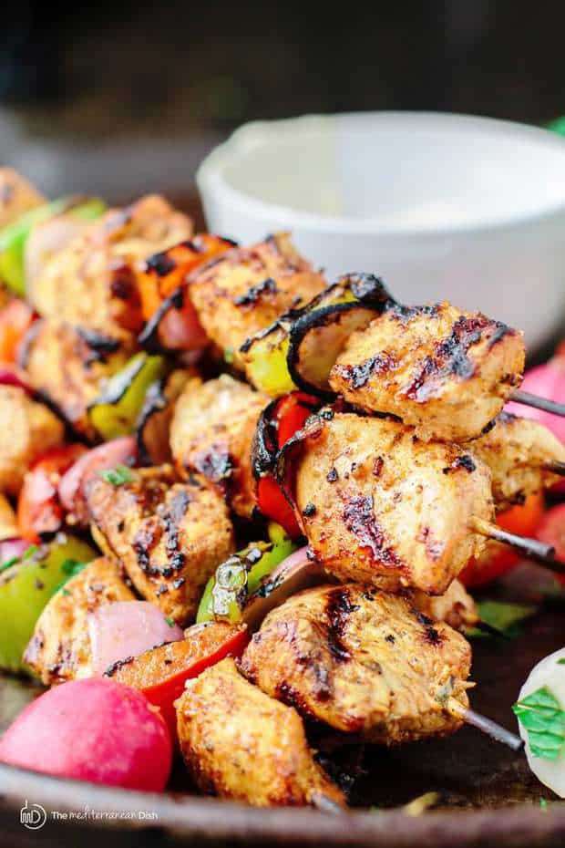 My go-to Mediterranean Grilled Chicken Kabobs…Let's just say, these easy, flavor-packed kabobs will quickly win your heart.
