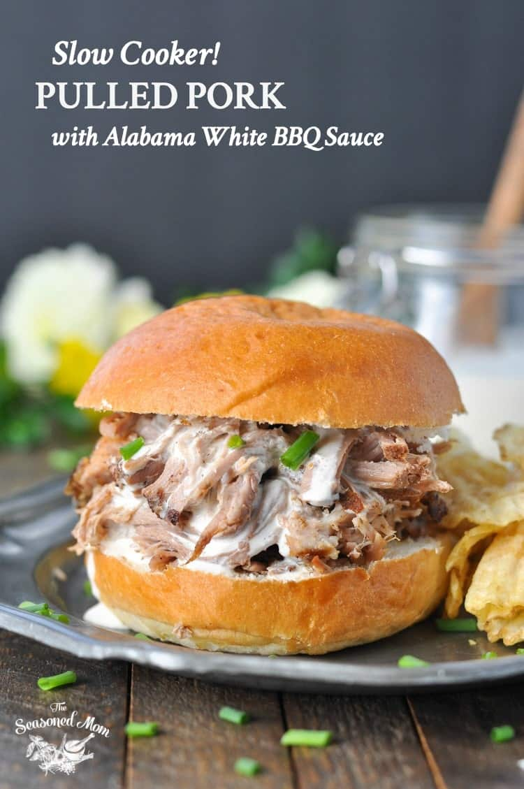 Need an easy dinner recipe that you can prep in 10 minutes and then leave to cook all day while you head off to work? ThisSlow Cooker Pulled Pork with Alabama White Barbecue Sauceis a simple Crock Pot meal that's perfect for busy weeknightsor potluck partieswith friends!