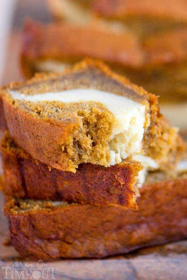 ThisPumpkin Cheesecake Banana Breadis perfect for dessert but also doubles as an amazing breakfast…or snack…or lunch. It's pretty amazing no matter what time you eat it! Ultra moistandbursting with pumpkin flavor!