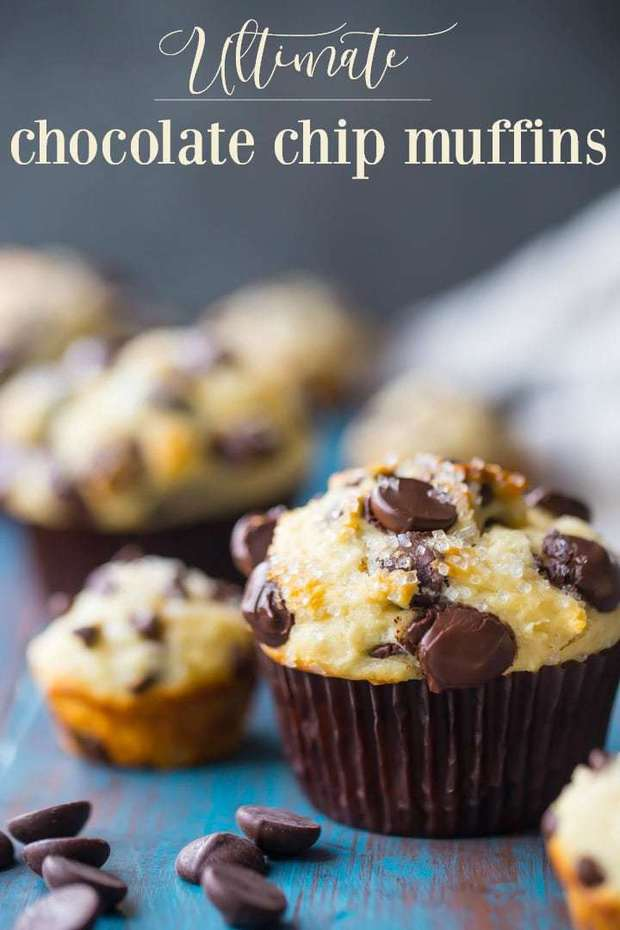 These chocolate chip muffins are like little bites of heaven! My kids love the mini size. Bake up a big batch and keep them in the freezer! Such a yummy way to start their day.