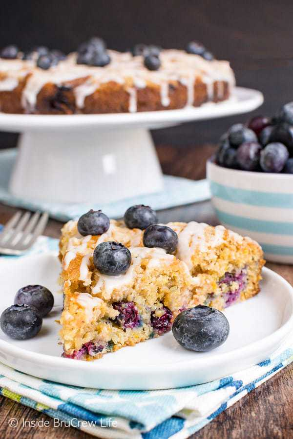 A slice of this Blueberry Orange Crumble Cake and a cup of coffee is the perfect breakfast or snack. It's a wonderfully soft cake loaded with lots of fresh berries, spices, and orange goodness.