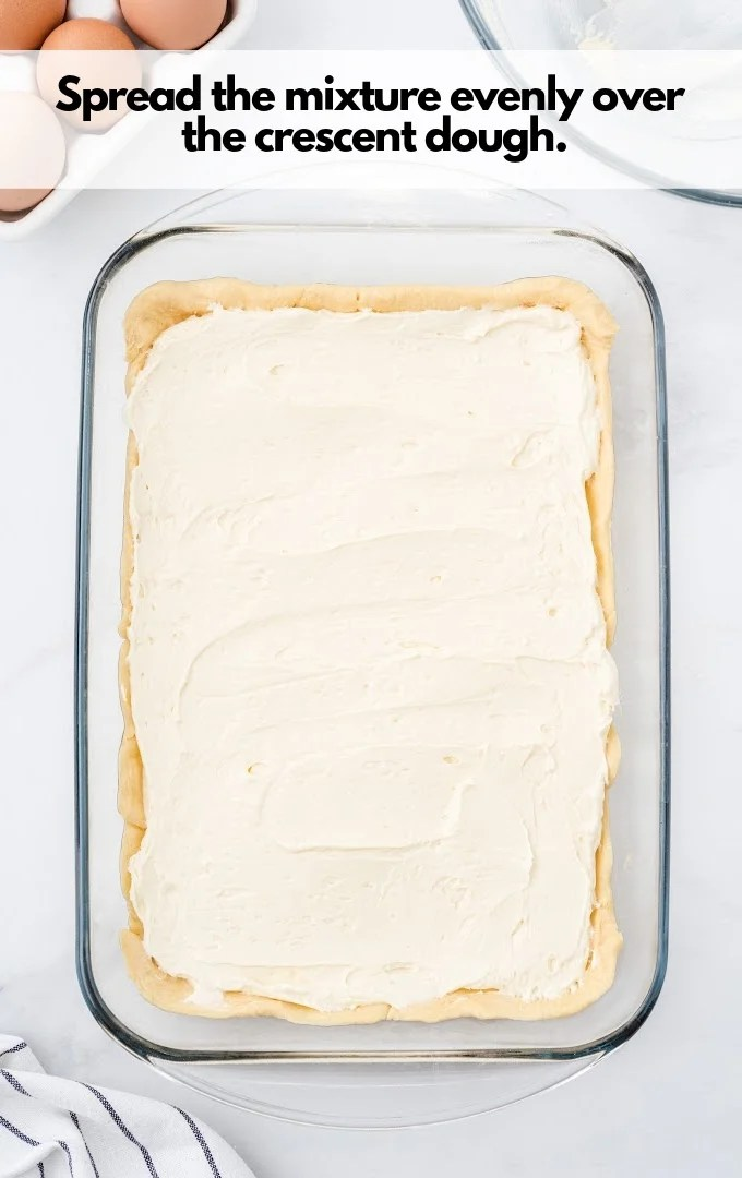 spread mixture over dough