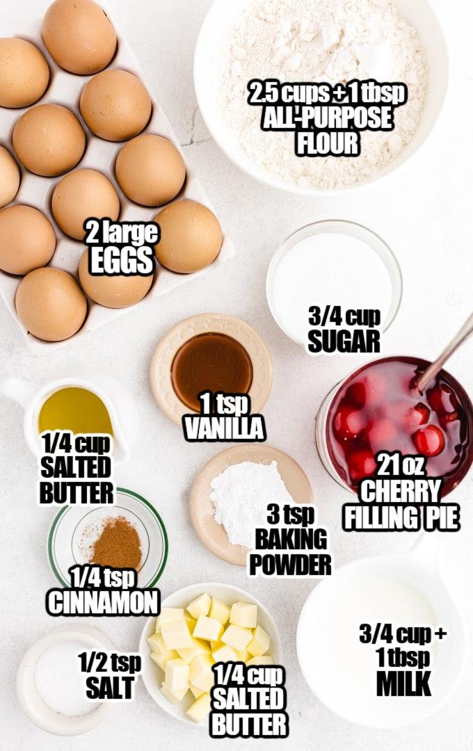 Cherry Cobbler Muffins Ingredients