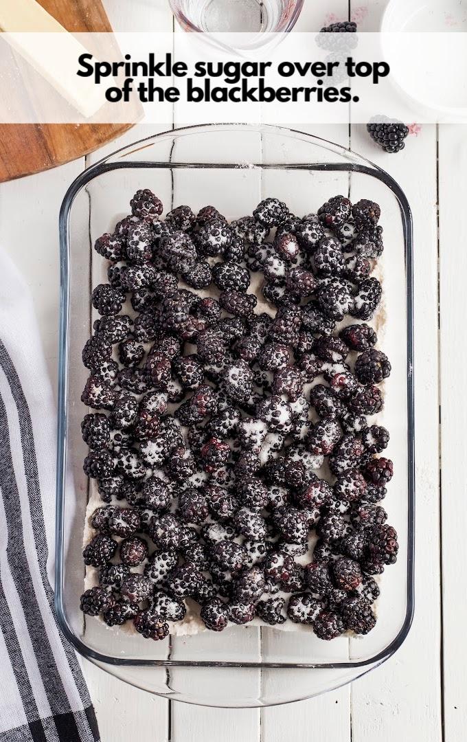 sprinkle sugar over berries