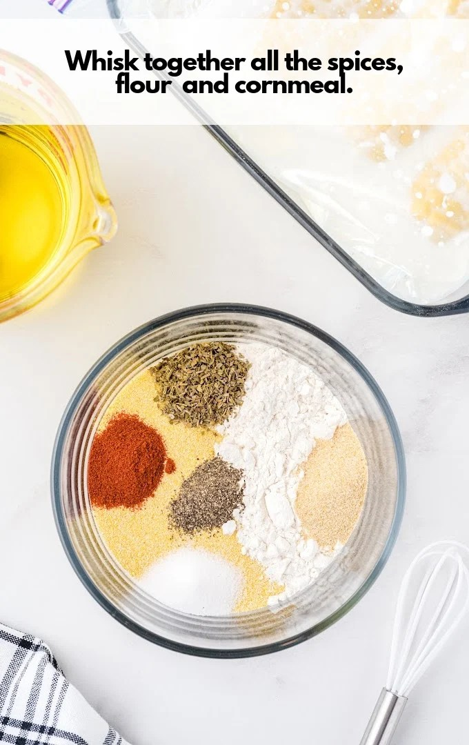 mix dry coating ingredients together