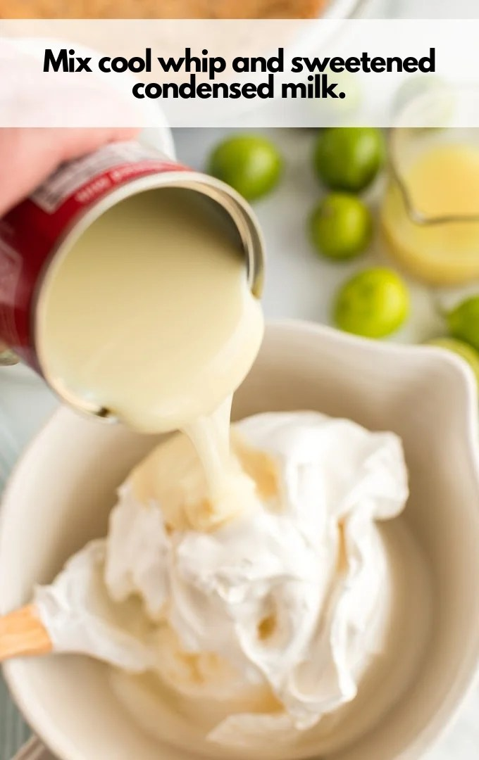 cool whip and sweetened condensed milk