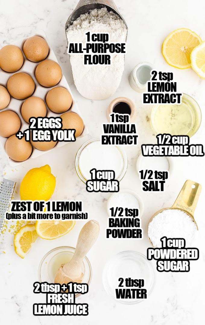 Lemon Brownies Ingredients