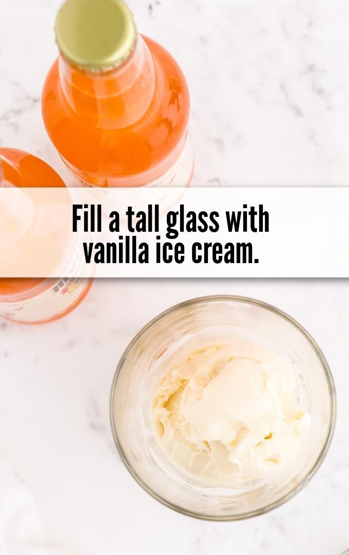 tall glass vanilla ice cream
