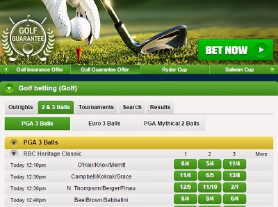 Coral have industry leading promotions for golf betting
