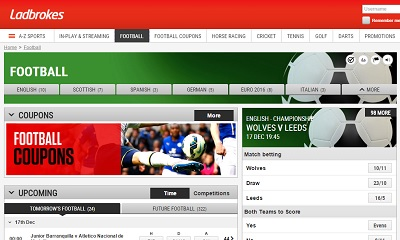 Ladbrokes football betting