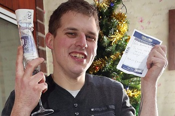 A Punter Celebrates His Win At William Hill
