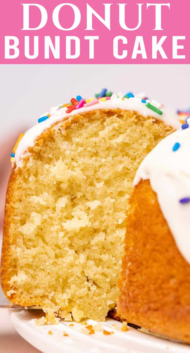 A fun easy cake that doubles as breakfast, that you can't beat! This Easy Donut Cake is a quick, easy and delicious treat for the whole family! via @thebestcakerecipes