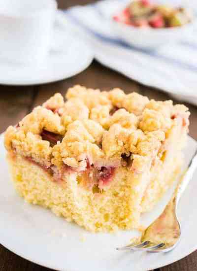Rhubarb Coffee Cake {Easy Coffee Cake Recipe with Streusel Topping}