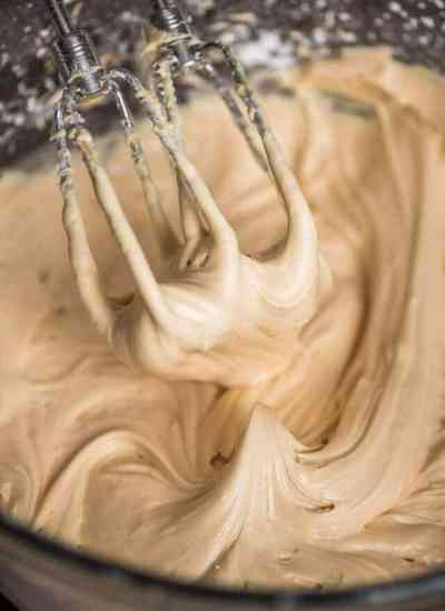 From Scratch caramel frosting with real caramel whipped in.