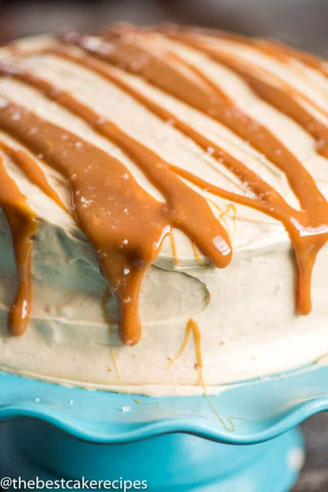 Homemade Caramel Frosting Recipe with real melted caramel whipped inside. This easy caramel buttercream is perfect for cookies, cakes and cupcakes.