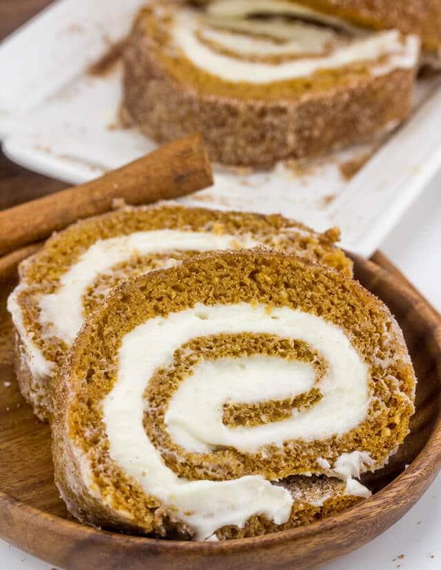 Cinnamon Sugar Pumpkin Roll