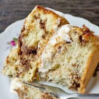 coffee cake with cream filling