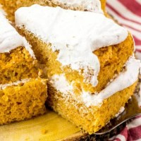 Pumpkin Angel Food Cake Recipe {with Cool Whip Frosting}