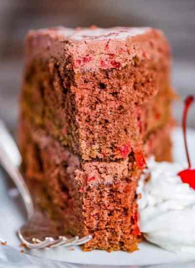 Two layer chocolate cherry cake recipe