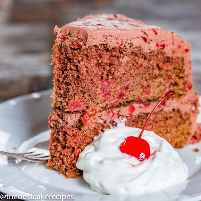 Chocolate Cherry Cake with Chocolate Cherry Frosting