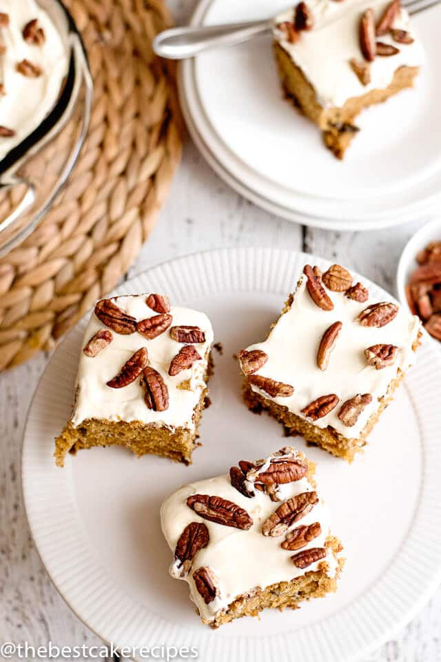 pieces of carrot cake on a plate