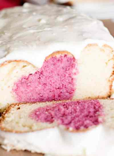 frosted valentine's day breakfast cake