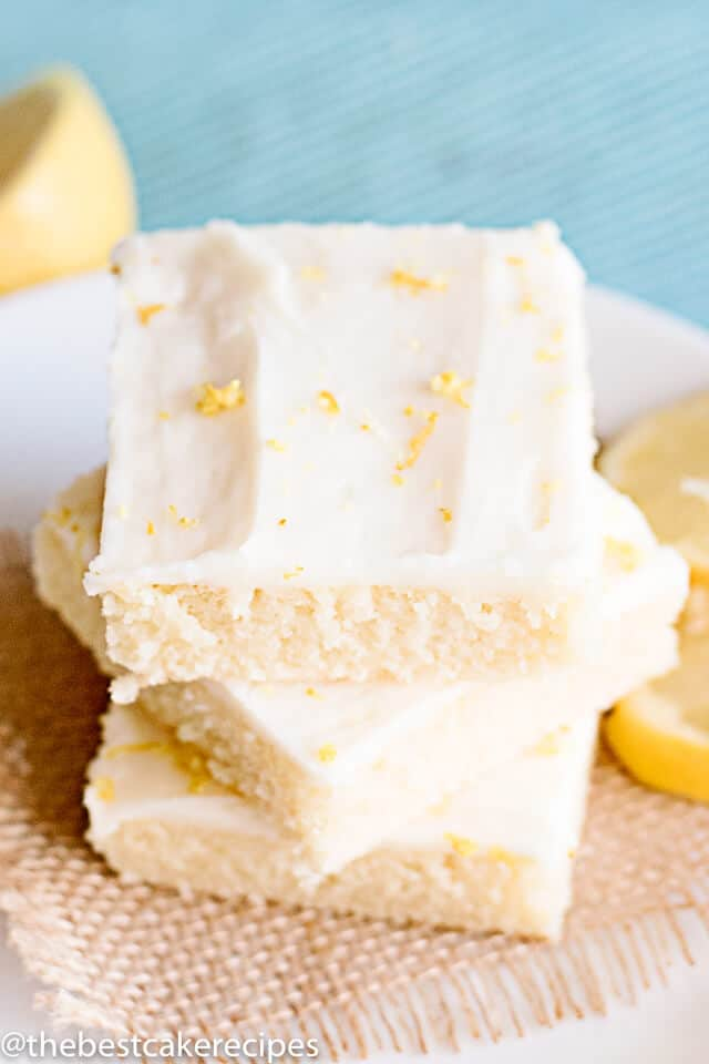 3 pieces of easy lemon cake