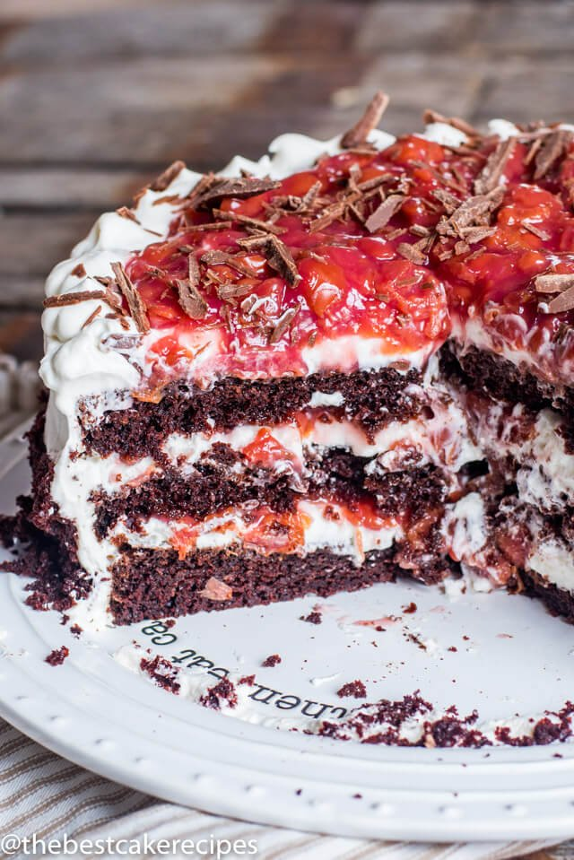 Homemade Black Forest Cake Recipe With Sour Cherry Filling