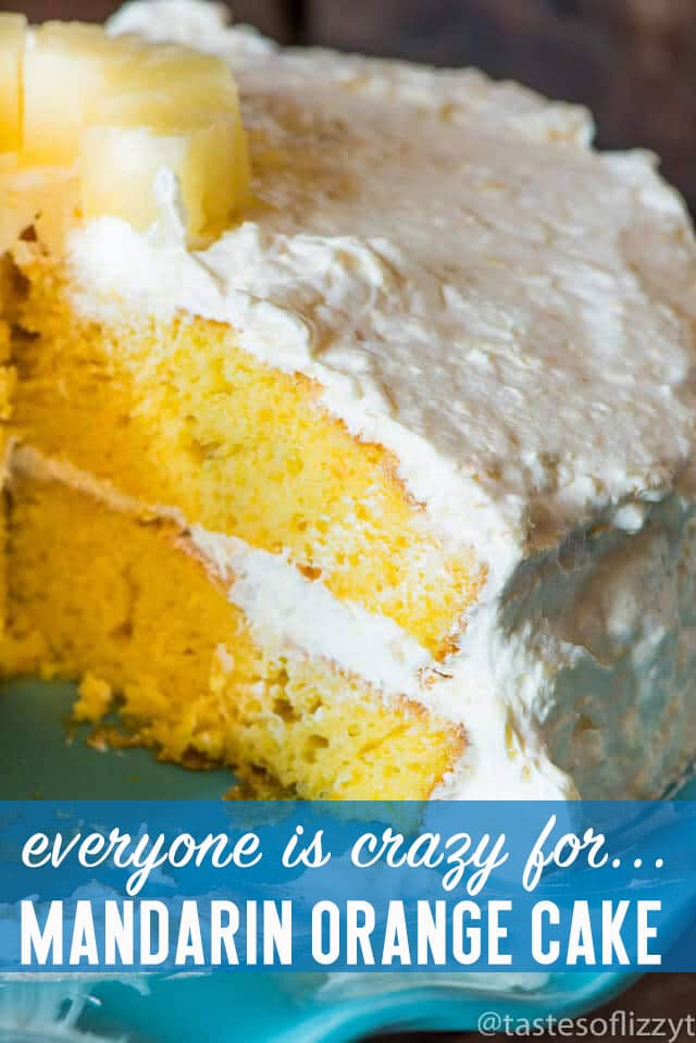 No one will believe this cake starts with a cake mix! Best ever Mandarin Orange Cake is one of the easiest cake recipes. It's light and fruit-filled...delicious!