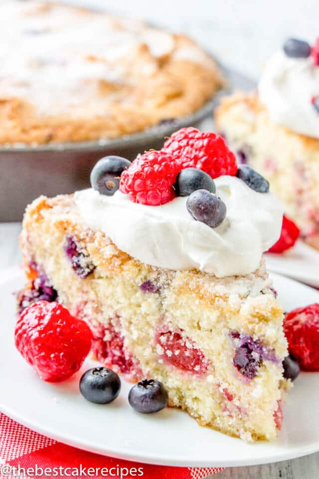 Blueberry Raspberry Cake Recipe Red White And Blue Patriotic Cake
