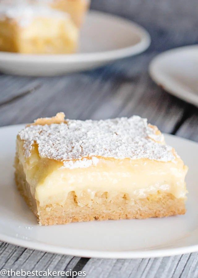 homemade ooey gooey butter cake on a plate