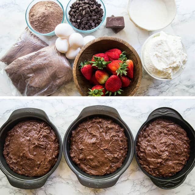 how to make chocolate cake collage