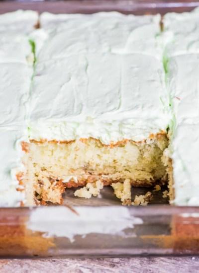 pistachio cake with pistachio frosting