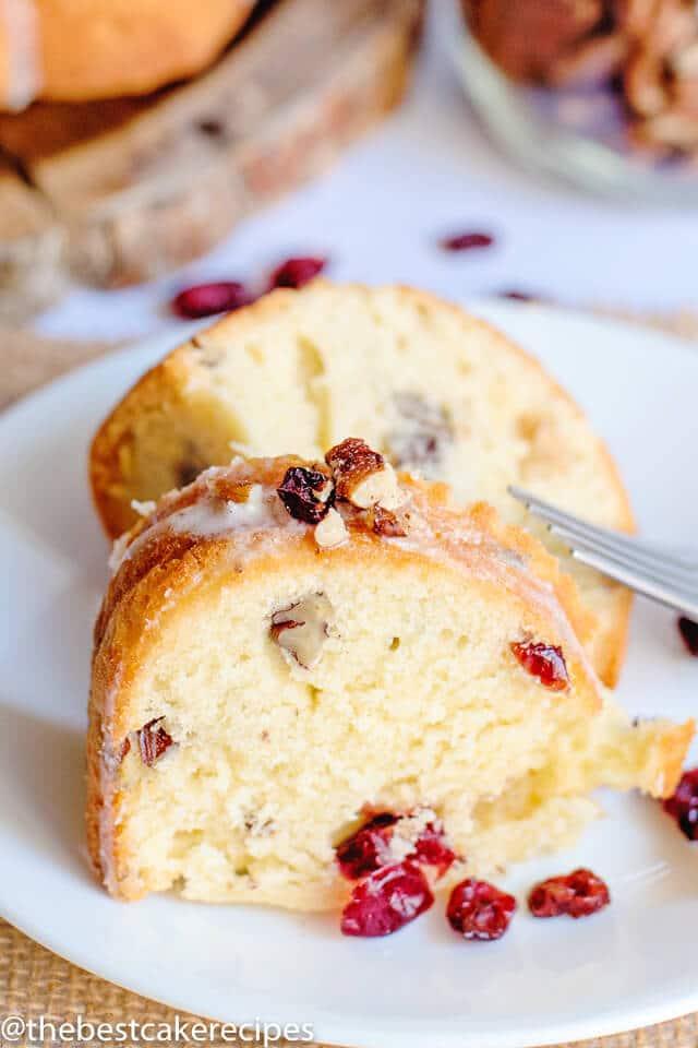 Cranberry Pecan Pound Cake Recipe