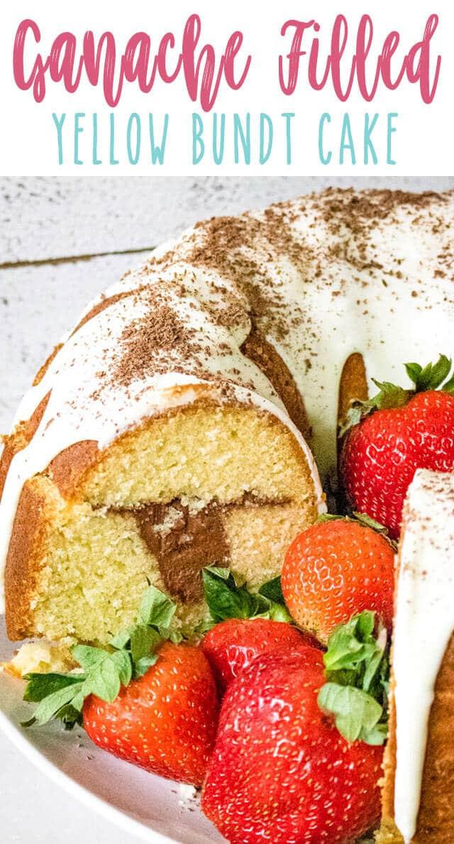 whipped ganache bundt cake title image