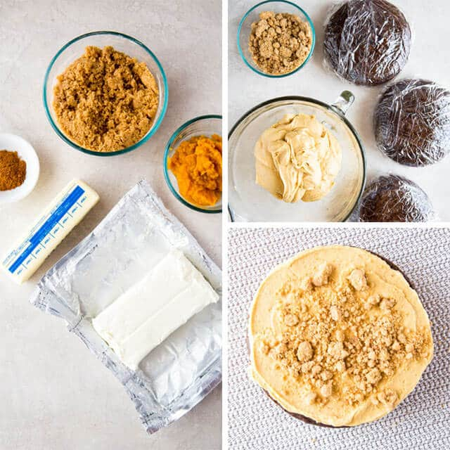 collage on how to make cream cheese frosting for cake