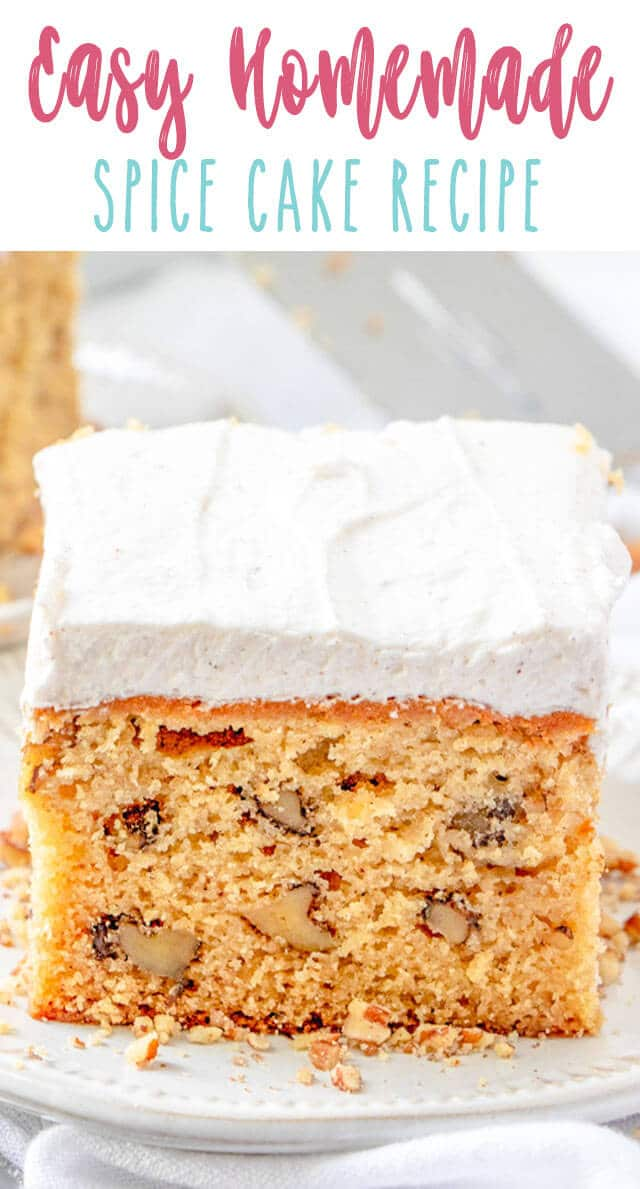 easy spice cake title image