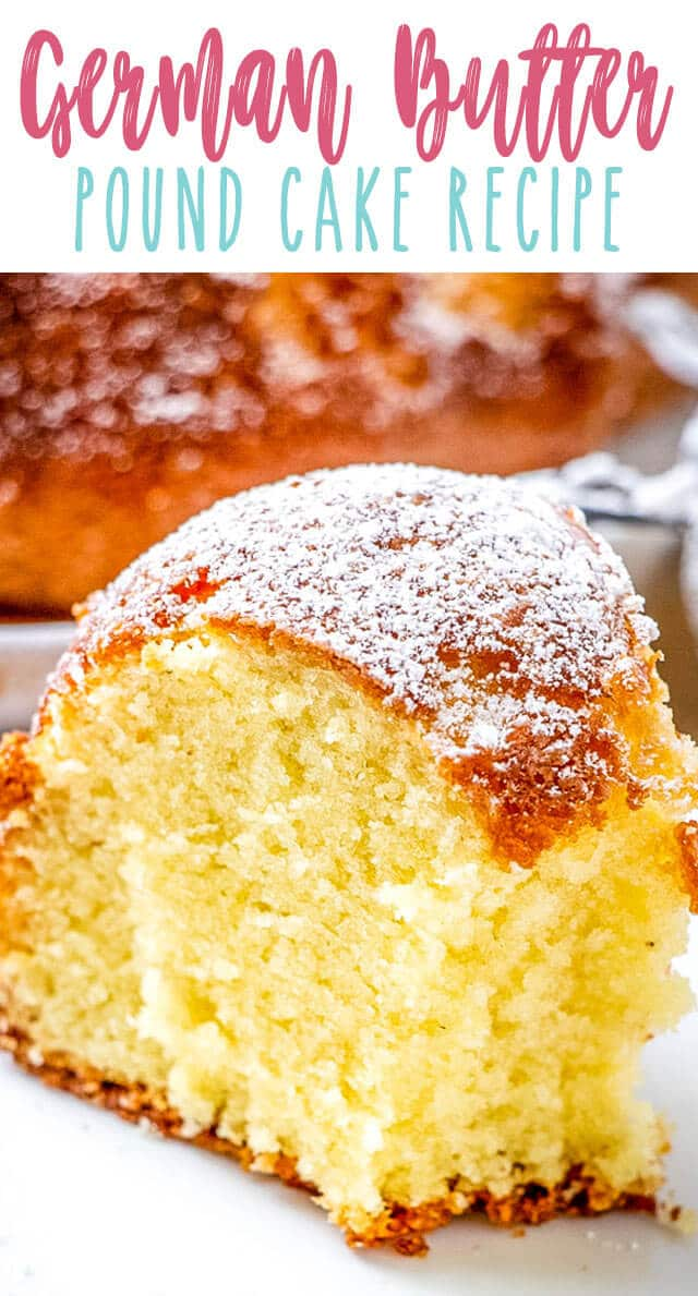 german butter pound cake title image