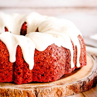 Red Velvet Cream Cheese Bundt Cake