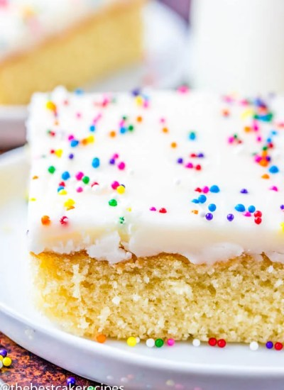 the best white sheet cake