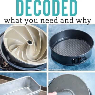 Cake Pans Decoded {Baking Pan Sizes and Uses}