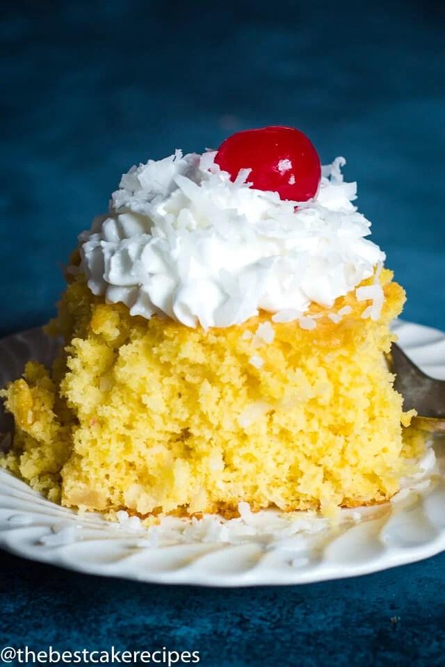 slice of 4 Ingredient Fruit Cake
