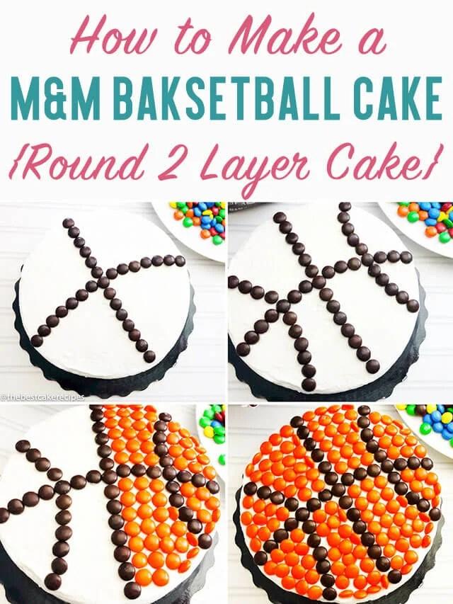 M&M basketball cake title image