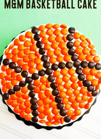 Basketball Cake Recipe with title