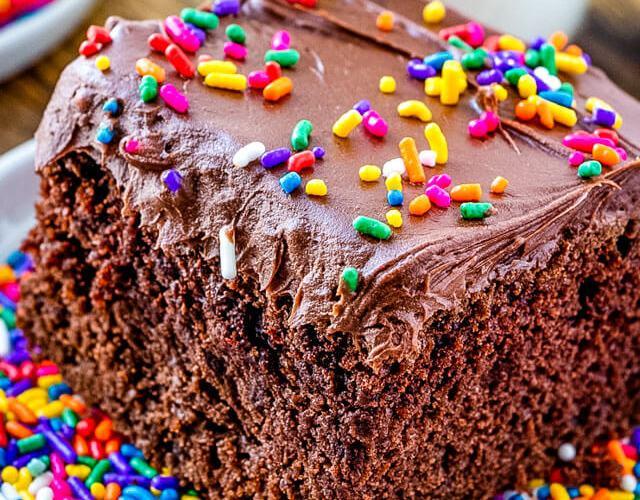 chocolate cake with mayonnaise