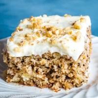 Walnut Pineapple Cake Recipe Closeup
