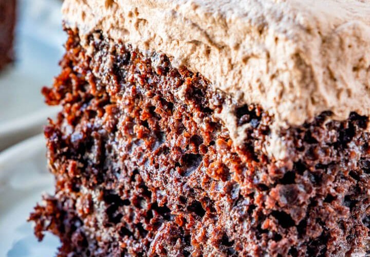 slice of Chocolate Tres Leches Cake